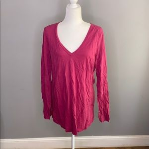 Anthropologie T.La Soft Pink Oversized Cozy Shirt
